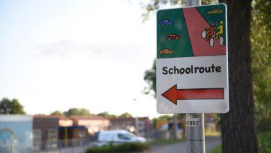 Photo of Eerste verkeersmaatregel zichtbaar bij brede school Scheemda