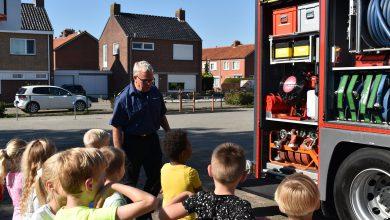 Photo of Brandweer Bad Nieuweschans op bezoek bij basisschool
