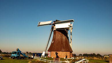 Photo of Molenwiek afgebroken van poldermolen 'De Dellen' in Nieuw Scheemda