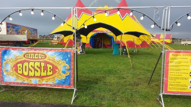 Photo of Circus Bossle door corona gestrand in Blauwestad