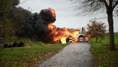Photo of Gewonde bij trekkerbrand in Midwolda