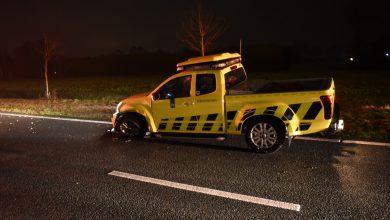 Photo of Rijkswaterstaat voertuig aangereden op N33 bij Veendam